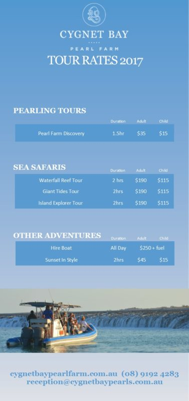 2017 Rates Accom & Tours DL minus cultural tour
