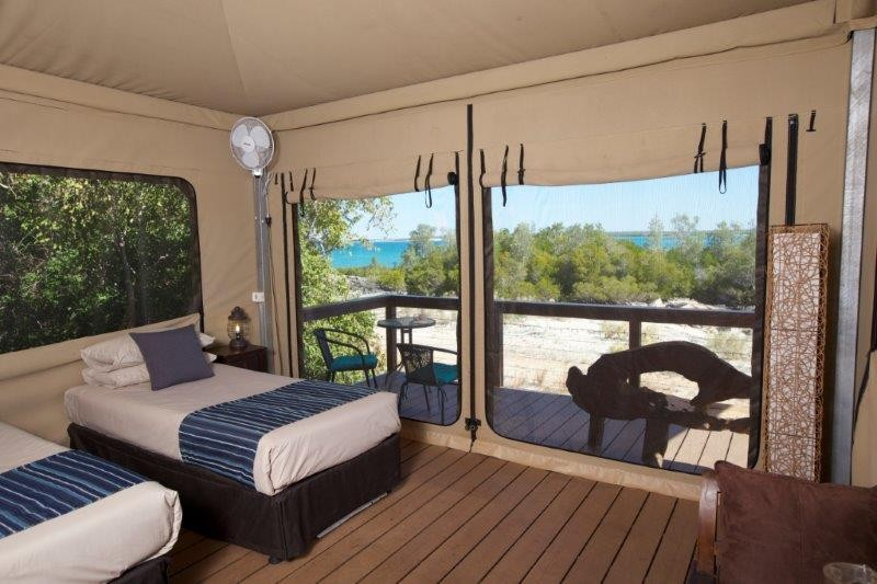 Bayview Safari Tents interior