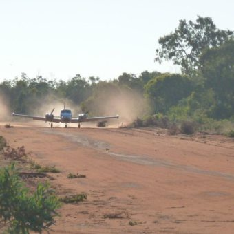 Landing on our airstrip