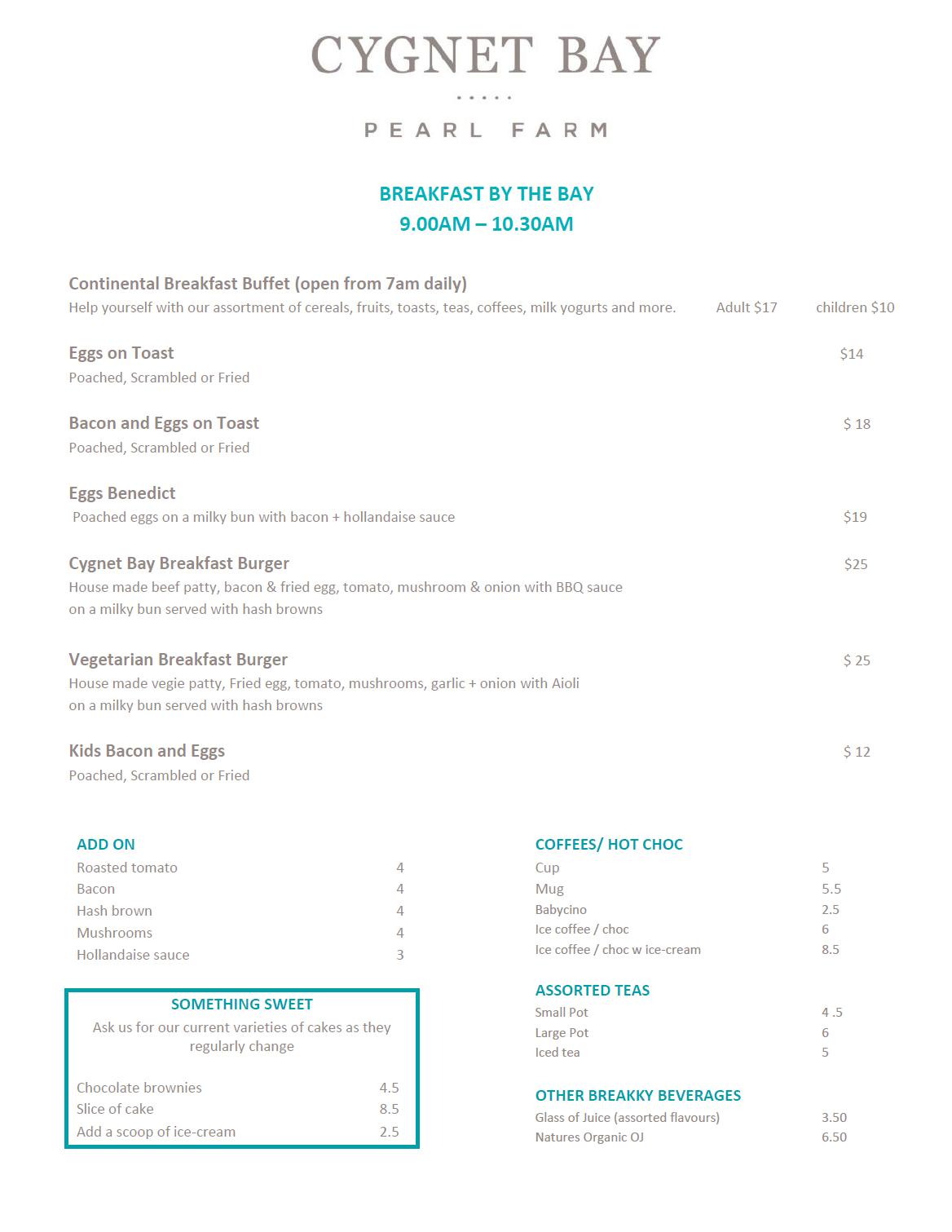 OCt break menu
